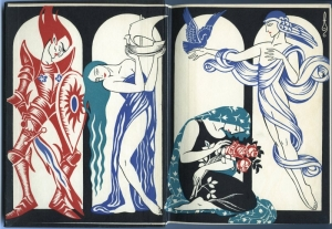 The Forge in the Forest, 1925.  Endpapers illustrated by Boris Artzybasheff.