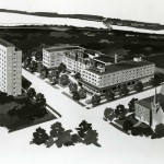 1964 Architect's campus rendering