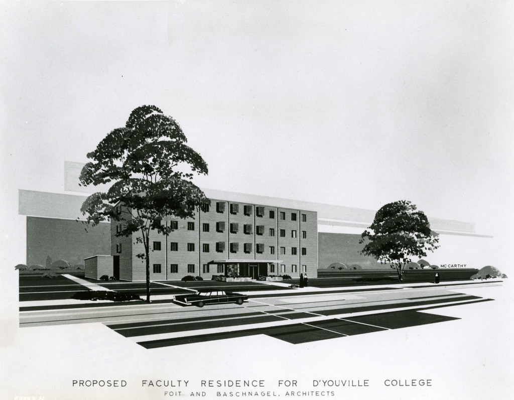 1964 proposed Faculty Residence