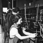 Old chemistry lab, 3rd floor of Koessler Administration Building, circa 1939.