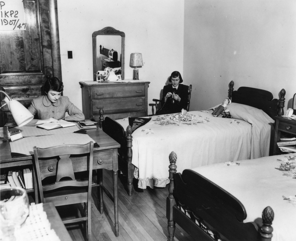 Dorm room, Koessler, 1947.