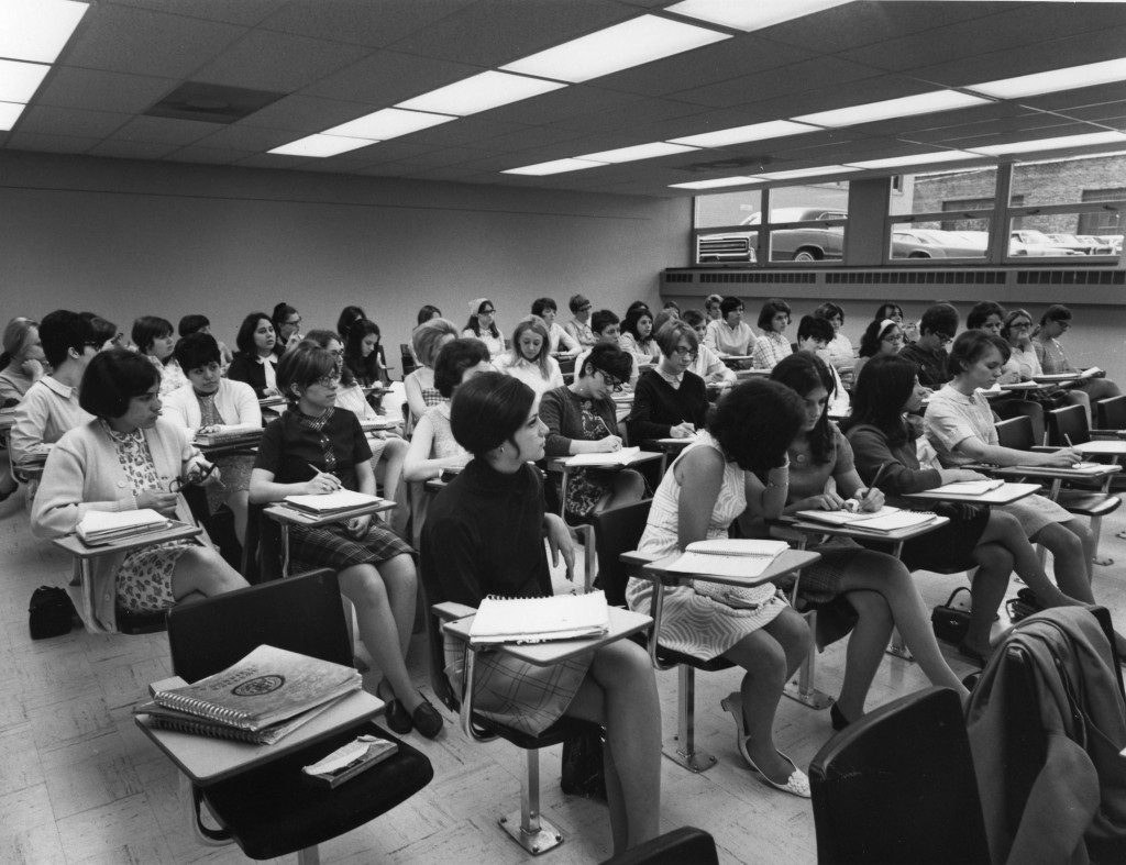 Health Sciences classroom, 1968.