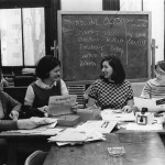 Working on the newspaper, 1968.