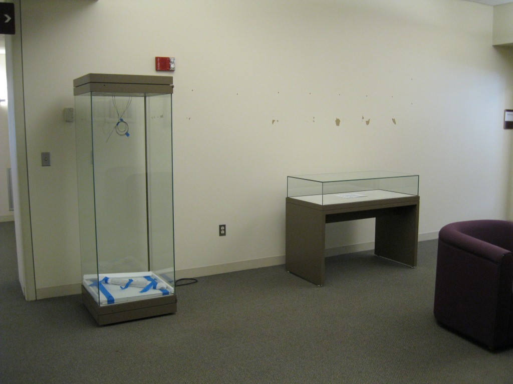 Exhibit area, 3rd floor of Montante Family Library