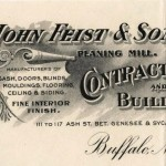 John Feist and Sons Company, Planing Mill, Buffalo (NY)