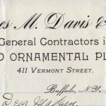 James M. Davis and Son, General Contractors in Plain and Ornamental Plastering, Buffalo (NY)
