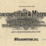 Duparquet, Huot, and Moneuse Company, Manufacturers of Imperial French Ranges, High Grade Cooking Apparatus, Washington DC