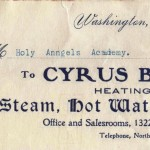 """Estimates cheerfully furnished"" by Cyrus B. Rees, Washington DC"