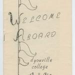 1959 Freshman Orientation Program