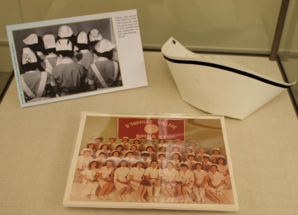 Nurse's cap and photographs