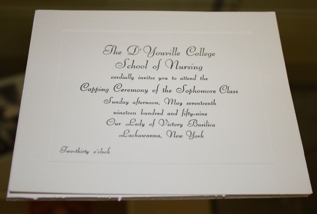 Capping Ceremony invitation